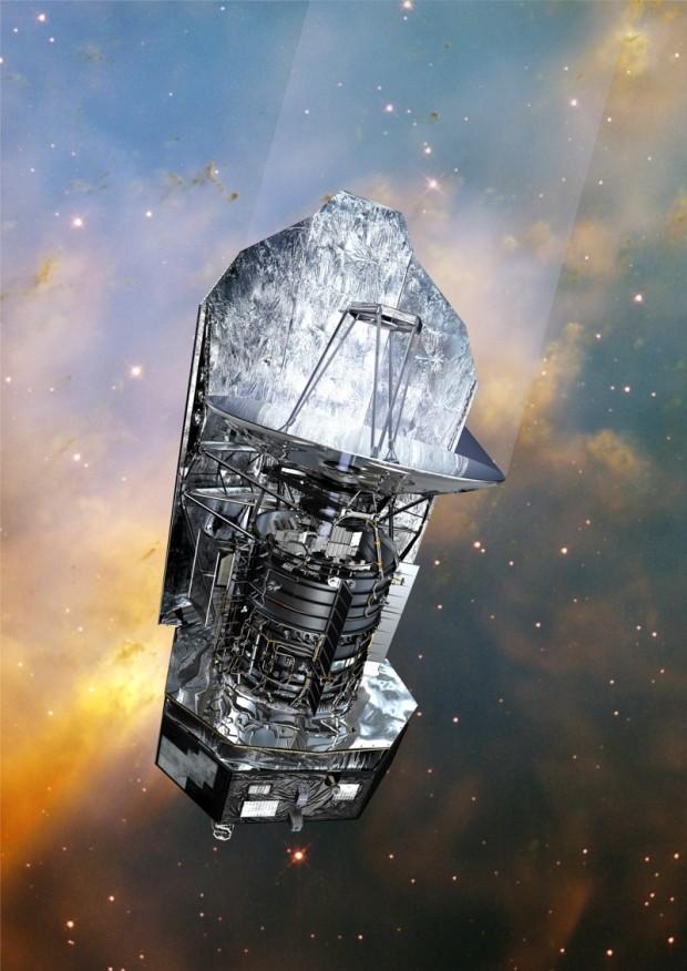 Vue d'artiste du satellite Herschel