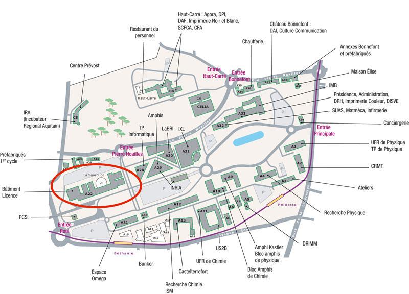 Plan d'accés