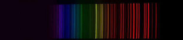 Figure 5 : image de la lampe ArNe en sortie du spectroscope.